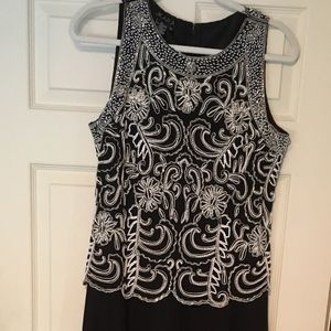 🎉HP🌟ZARA Beaded Bodice Evening Gown Black/White